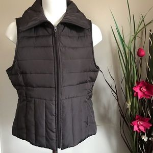 Kenneth Cole Reaction Down Fill Puffer Brown Vest